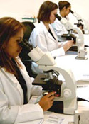Picture of mold analytical laboratory professionals.